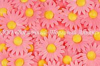 Вафельные цветы Modecor - Ромашки розовые 200 шт