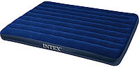 Intex Надувной матрас велюровый 64758 полуторный, 137х191х25 см, в коробке
