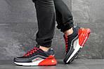 Мужские кроссовки Nike Air Max 95 + Max 270 (темно-синие с красным), фото 3