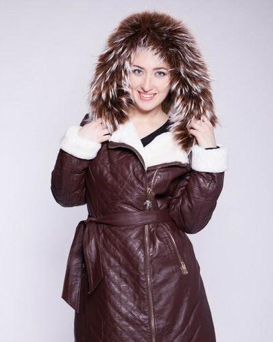 Дубленка женская  Oscar Fur   10  Коричневый