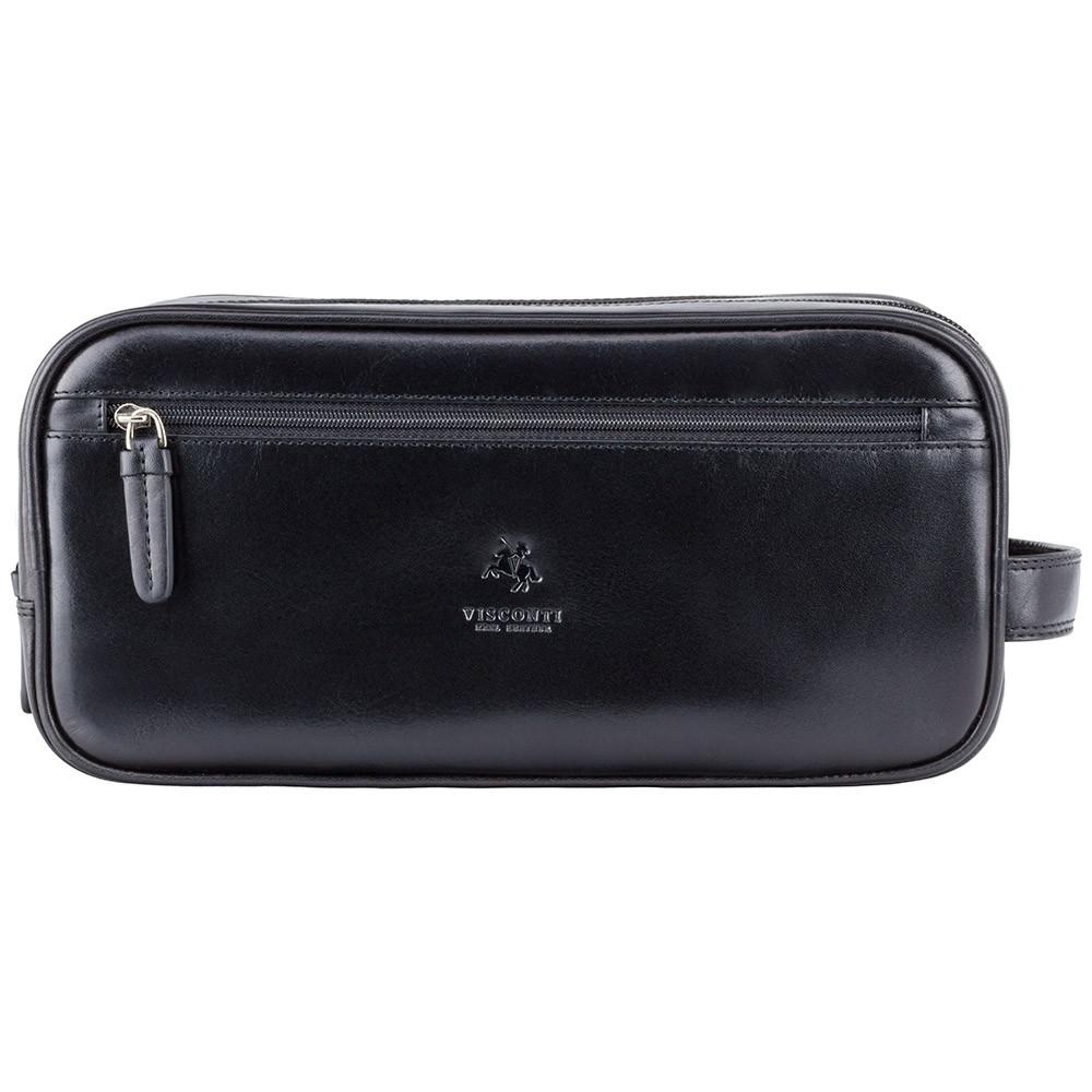 Кожаный несессер Visconti MZ100 black (Великобритания)