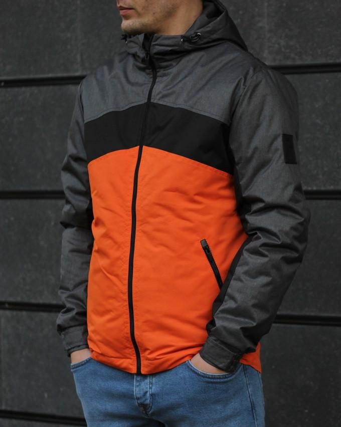 Мужская весенняя куртка с капюшоном S3. Фото в живую