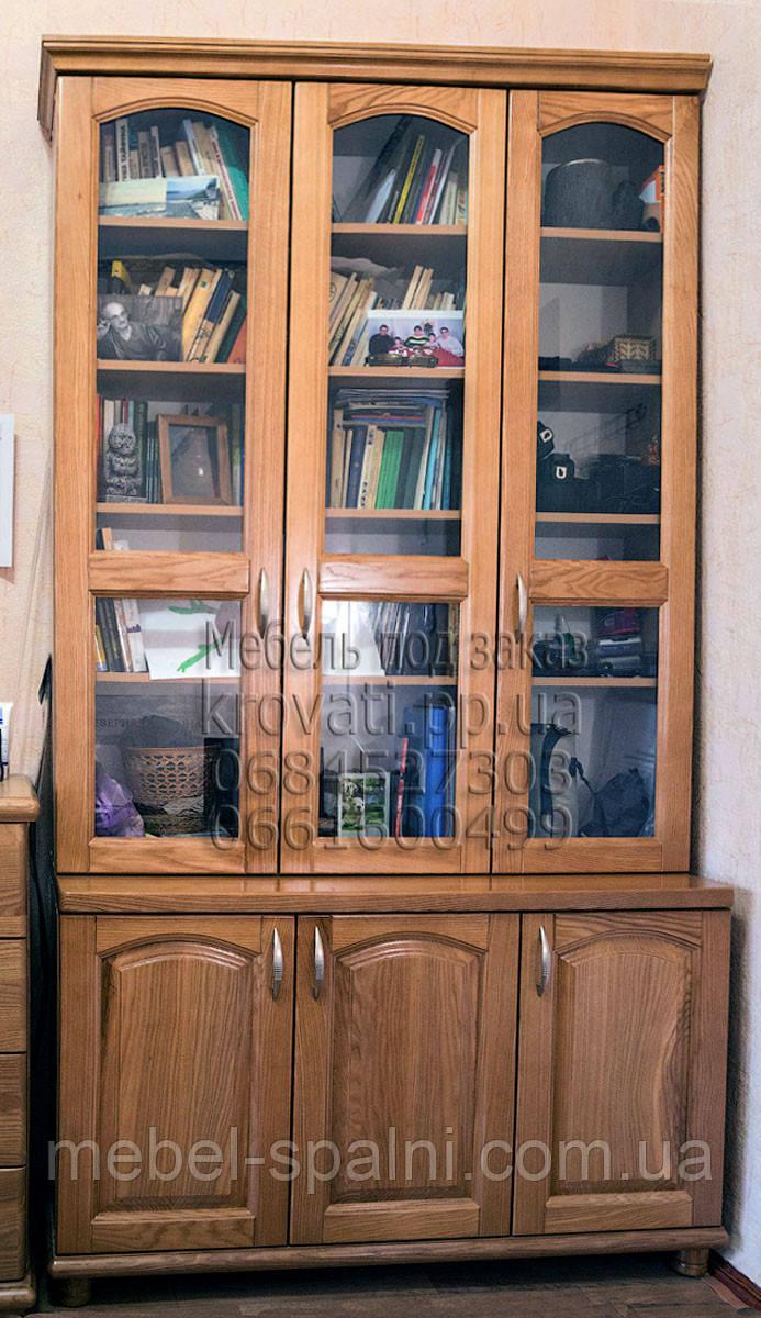 """Шкаф книжный """"Трио 1"""" - витрина"""