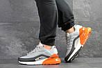 Мужские кроссовки Nike Air Max 95 + Max 270 (серо-оранжевые), фото 2