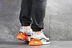 Мужские кроссовки Nike Air Max 95 + Max 270 (серо-оранжевые), фото 3