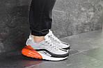 Мужские кроссовки Nike Air Max 95 + Max 270 (серо-оранжевые), фото 6