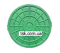 Люк-мини пластмассовый канализационный (зеленый)