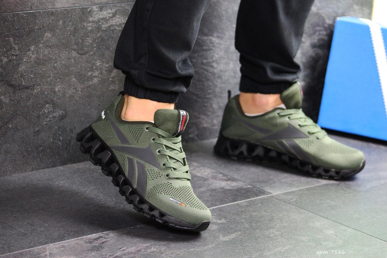 Мужские кроссовки Reebok Zignano (темно-зеленые)