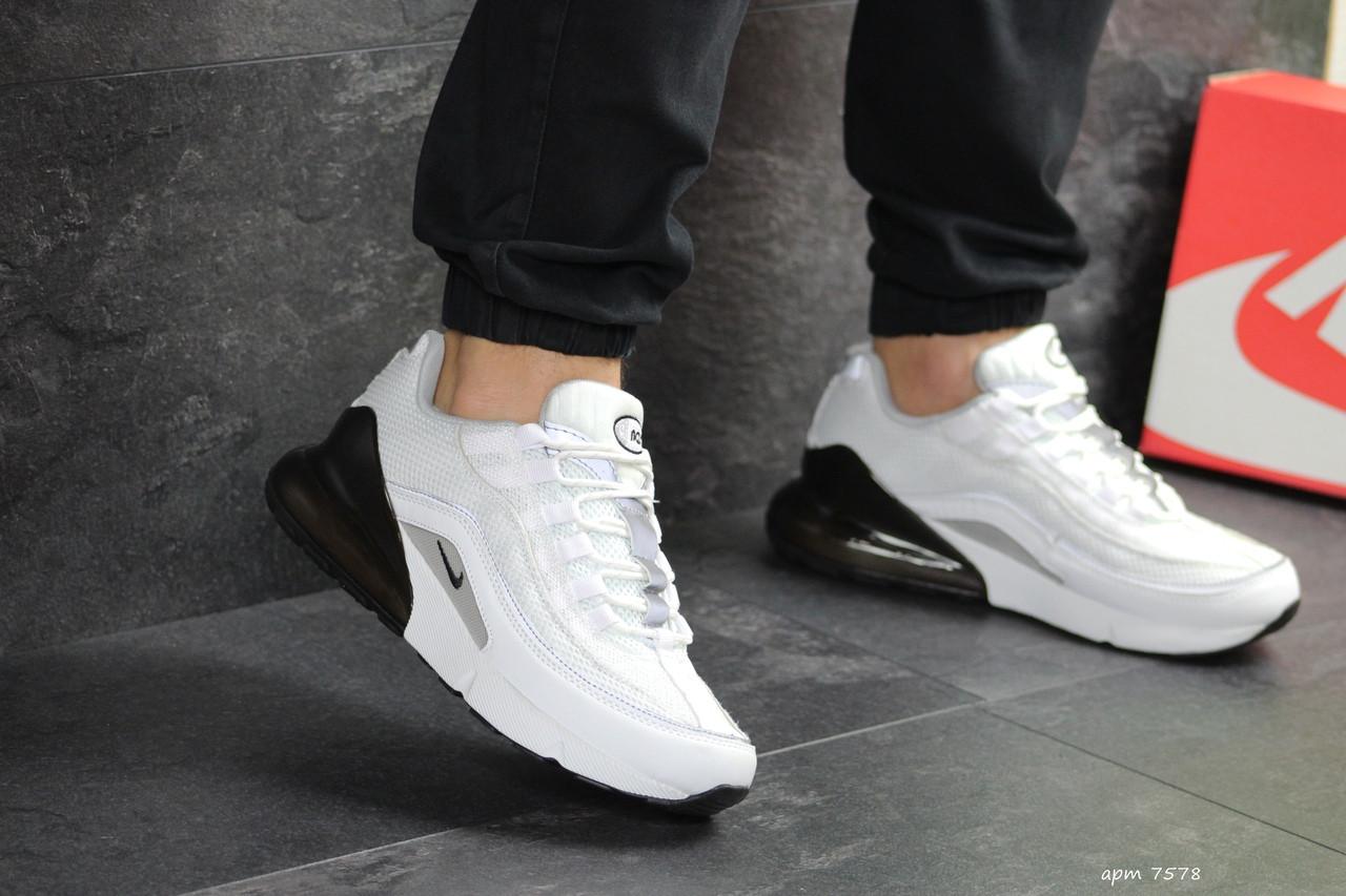 Мужские кроссовки Nike Air Max 95 + Max 270 (белые)