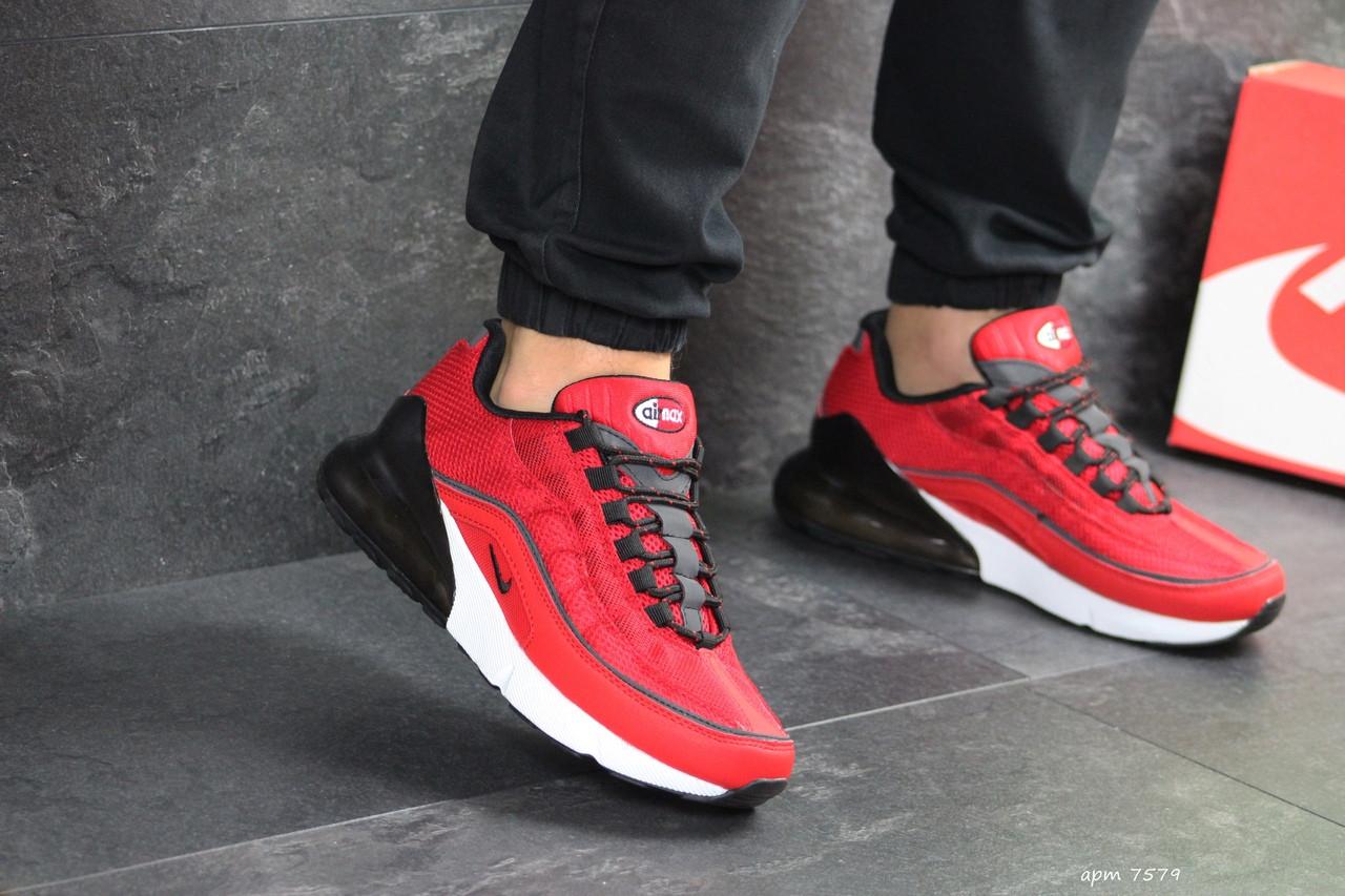 Мужские кроссовки Nike Air Max 95 + Max 270 (красные)