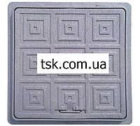 Пластмассовый люк-мини  квадратный 300х300  (черный)
