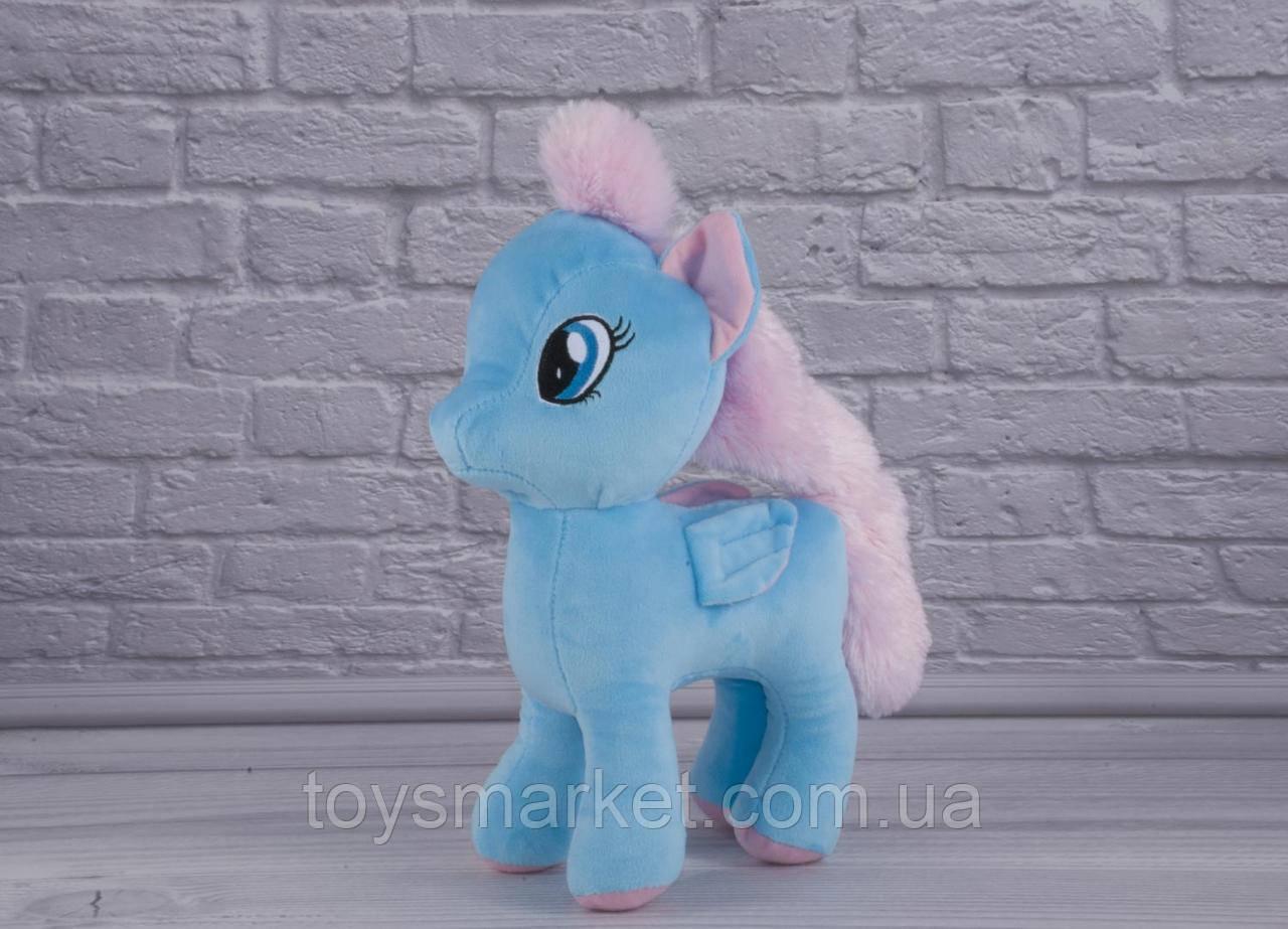 Мягкая игрушка Лошадка Голубая