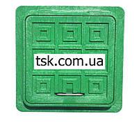 Пластмассовый люк-мини  квадратный 300х300  (зеленый)