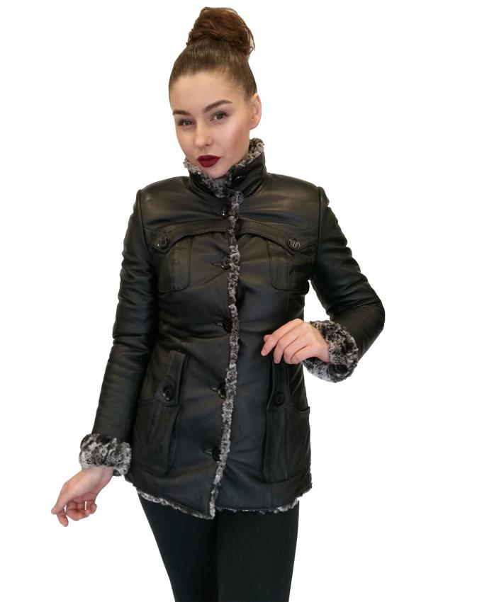 Дубленка женская  Oscar Fur 429 Черная