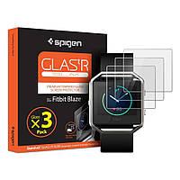 Защитное стекло Spigen GLAS.tR SLIM для часов Fitbit Blaze (3 стекла)