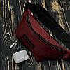 Поясная сумка, бананка, сумка на пояс Supreme, цвет красный, материал Kiten