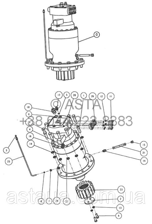 Поворотный механизм 3 W14F21A3