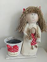 Кукла - кашпо с игрушкой