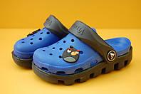 Детские кроксы синие  размеры 20-31,5