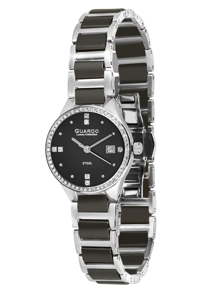 Жіночі наручні годинники Guardo S00579(m) SB