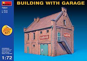 Пластиковая модель. Здание с гаражом. 1/72 MINIART 72031