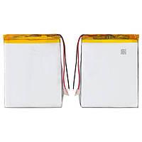 Батарея (АКБ, аккумулятор) для китайских планшетов/телефонов, универсальный, 1600 mAh, 82х63х4,0 мм