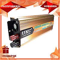 Преобразователь автомобильный напряжения инвертор AC/DC SSK 1500W 24V, фото 1