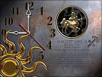 Часы настенные 28, зодиак 30х40 для кухни, гостиной, детской, спальни. Подарок