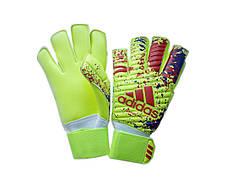 Вратарские перчатки Adidas pro 070 сине-салатовые, фото 2