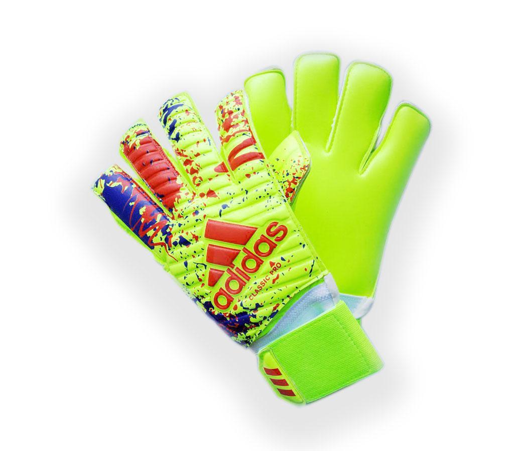 Вратарские перчатки Adidas pro 070 сине-салатовые