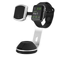 Магнитный держатель Scosche MagicMount Pro Home/Office Silver для смартфонов с креплением для Apple Watch