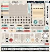 Чипборды Teresa Collins - Memories Die Cut Chipboard Stickers, MEM128