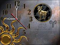Часы настенные 30, зодиак 30х40 для кухни, гостиной, детской, спальни. Подарок