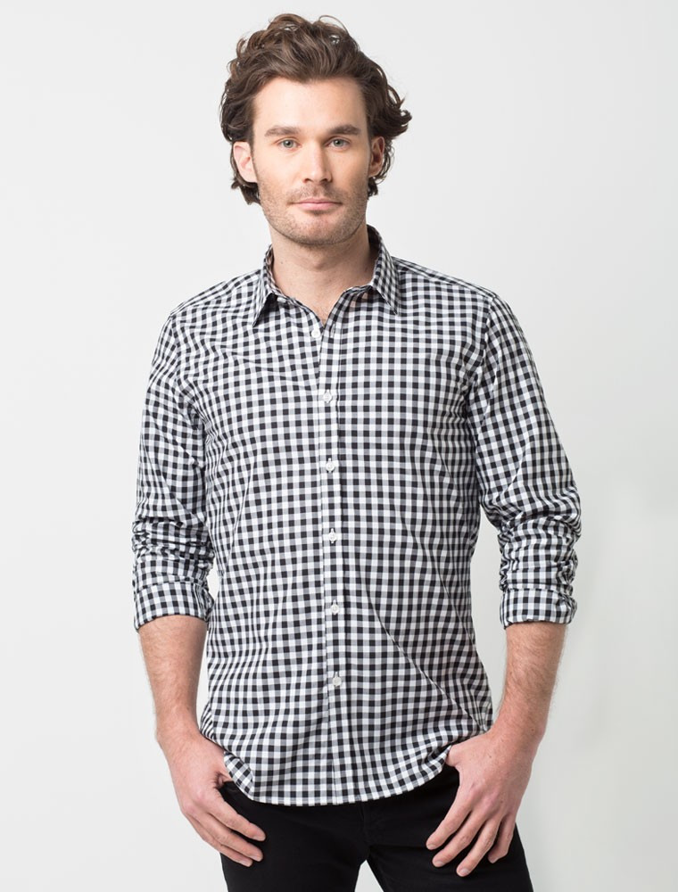 Рубашка для официанта мужская клетчатая Atteks - 02309