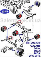 Сайлентблоки MITSUBISHI ENDEAVOR (D8_W, D7_W) 03-11г