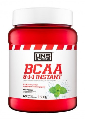 Аминокислоты BCAA UNS - BCAA 8:1:1 Instant (500 грамм)  raspberry/малина