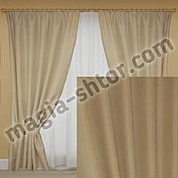 Готовые шторы лен. Цена за пару, фото 1