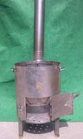 Печь для казана диаметр 380 мм, толщина стенки 2 мм с трубой