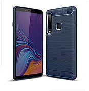 Чехол силиконовый TPU на Samsung A9 2018 / A920 темне синий