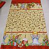 Готовое вафельное полотенце с ангелочками, вензелями и пасками 42х70 см