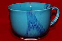 Чашка-пиала с ручкой голубая.