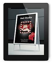 Дизайн макета для штендера (выносной рекламы) ногтевого салона