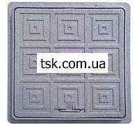 Люк пластиковый квадратный 500х500 (черный)