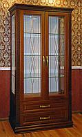 """Книжный шкаф """"Дуэт 2"""" деревянный стеллаж для книг в гостиную сервант витрина"""
