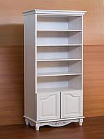 """Книжный шкаф """"Дуэт 3"""" деревянный стеллаж для книг в гостиную сервант витрина"""