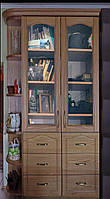 """Книжный шкаф """"Дуэт 4"""" деревянный стеллаж для книг в гостиную сервант витрина"""