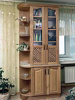 """Книжный шкаф """"Дуэт 5"""" деревянный стеллаж для книг в гостиную сервант витрина"""