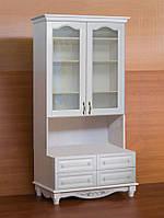 """Книжный шкаф """"Дуэт 6"""" деревянный стеллаж для книг в гостиную сервант витрина"""