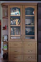 """Книжный шкаф """"Дуэт 9"""" деревянный стеллаж для книг в гостиную сервант витрина"""
