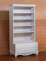 """Книжный шкаф """"Дуэт 10"""" деревянный стеллаж для книг в гостиную сервант витрина"""